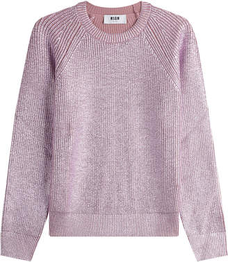 MSGM Metallic Wool Pullover