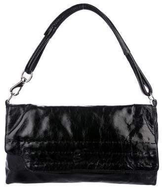 Donald J Pliner Leather Flap Handle Bag