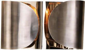 Global Views Plug-In Folded Sconce - Antiqued Nickel