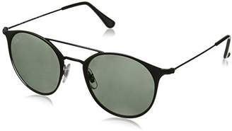 Ray-Ban Steel Unisex Polarized Round Sunglasses