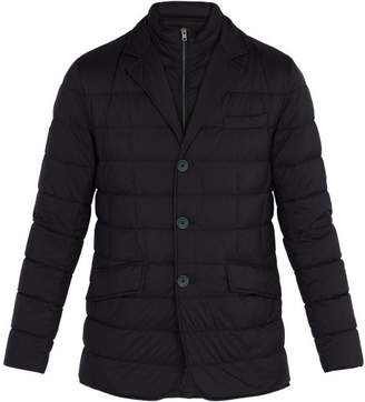 Herno Single Breasted Quilted Jacket - Mens - Navy