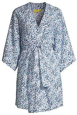 Roller Rabbit Women's Winterland Short Kimono Robe
