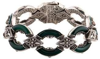 Konstantino Dyed Chalcedony Ismene Link Bracelet