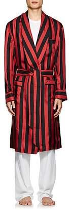 Barneys New York Men's Striped Silk Robe