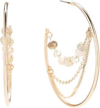 Panacea Pannee By Gold-Tone Hoop & Chain Earrings