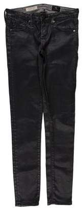 Adriano Goldschmied Low-Rise Coated Jeans