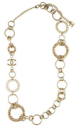 Chanel Crystal CC Link Necklace