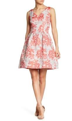 Donna Ricco V-Neck Brocade Dress