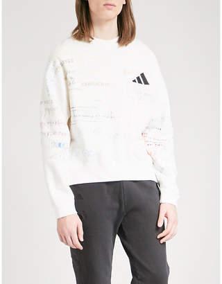 Yeezy Season 5 brand patch cotton-blend jumper