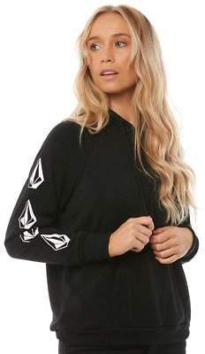 Volcom New Women's Gmj Po Fleece Polyester Black