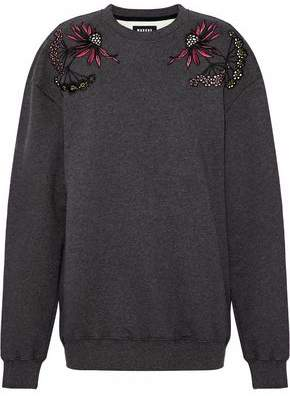 Markus Lupfer Embroidered Cotton-Fleece Sweatshirt
