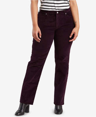 Levi's Plus Size 414 Distressed Straight Jeans