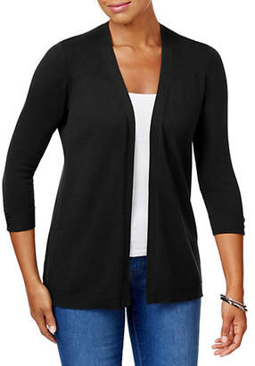 Karen Scott Classic Ribbed Cardigan