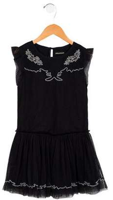Zadig & Voltaire Girls' Sleeveless Tulle Dress