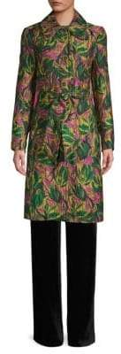 Etro Citron Floral Trench Coat
