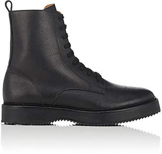 Barneys New York Men's Grained Leather Side-Zip Boots