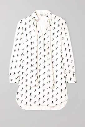 Chloé Printed Silk-crepe Shirt Dress - Ivory
