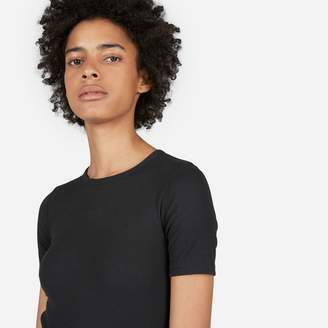 Everlane The Pima Micro Rib Crew Tee