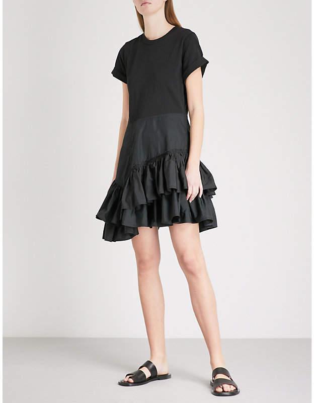 Flamenco woven cotton dress