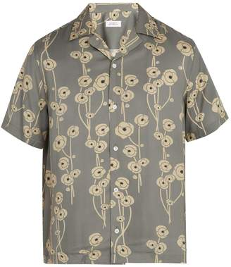 Saturdays NYC Canty poppy-print woven shirt