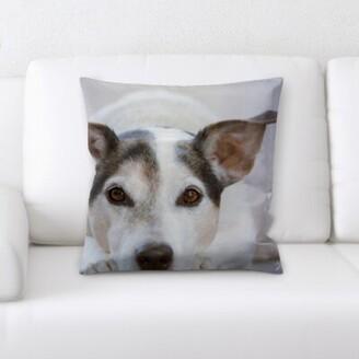 Winston Porter Aiden Dog Portrait Throw Pillow Winston Porter