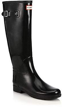 Hunter Women's Women's Refined Tall Gloss Rain Boots