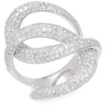 Effy Twisted 14K White Gold & 1.73 TCW Diamond Ring