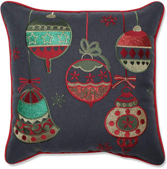 Pillow Perfect Sparkling Christmas Ornaments 16In Throw Pillow