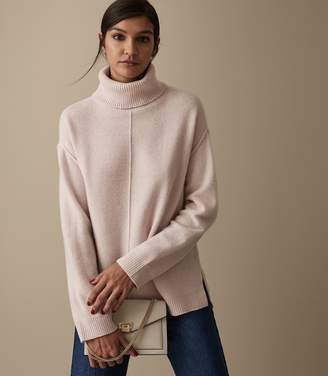 Reiss CLEO WOOL CASHMERE BLEND JUMPER Soft Pink