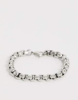 Seven London cable chain bracelet in silver