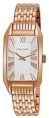 Pierre Cardin Women's Quartz Watch with Silver Dial Analogue Display and Rose Gold Stainless Steel Bracelet PC104662S05