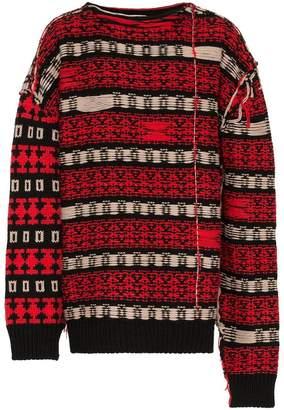 Calvin Klein stripe knitted wool blend jumper