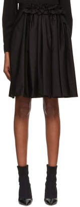 Lanvin Black Poplin Skirt
