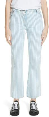 Off-White Diagonal Stripe Crop Jeans