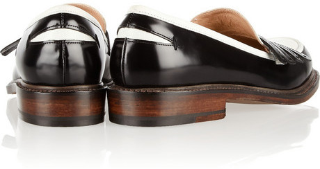 Robert Clergerie Rizzi Renee two-tone leather loafers