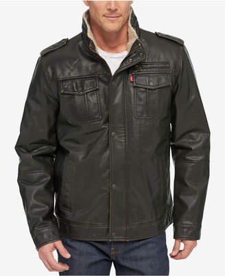 Levi's Men's Faux Leather Utility Jacket