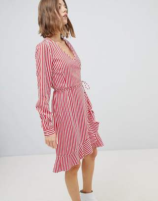 Vero Moda Stripe Wrap Dress