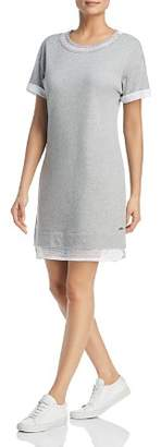 Andrew Marc Mesh-Trim Dress
