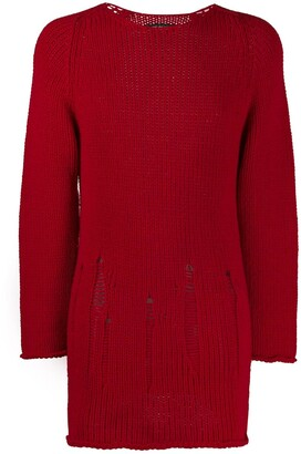 Comme des Garcons Pre-Owned 2003 oversized red jumper