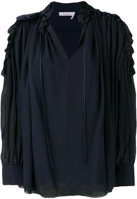 Chloé off-shoulder ruffle blouse