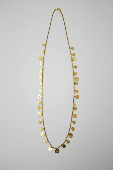 Ben Amun Long Gold Necklace with Discs