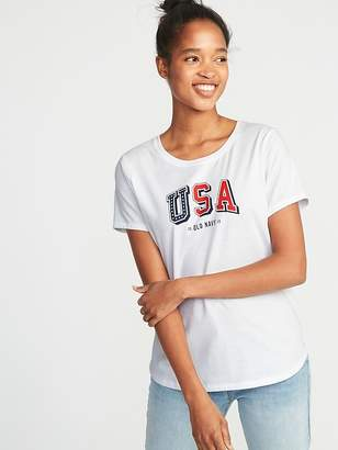 Old Navy Relaxed 2018 Flag-Graphic Tee for Women