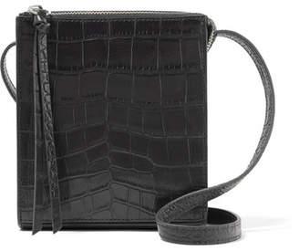 Elizabeth and James - Sara Croc-effect Leather Shoulder Bag - Black $365 thestylecure.com