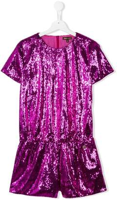 Roberto Cavalli teen sequin embellished playsuit