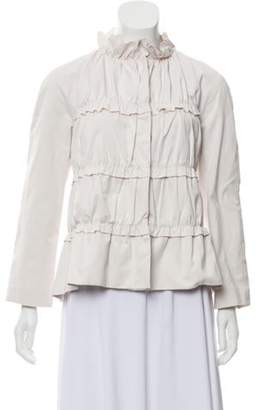 Moncler Tiered Button-Up Jacket pink Tiered Button-Up Jacket