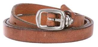 Closed Leather Buckle Belt