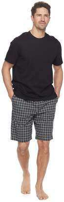 Croft & Barrow Men's True Comfort Solid Tee & Printed Knit Shorts Sleep Set