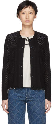 Marc Jacobs Black Bracelet Sleeve Cardigan