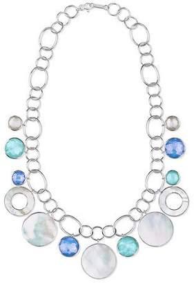 Ippolita Wonderland Chain Link Necklace w/ Shell & Stone Drops in Brazilian Blue