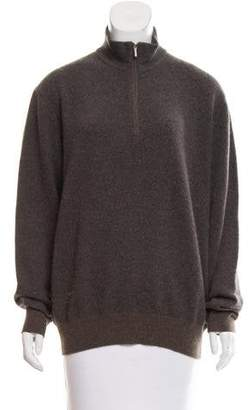 Loro Piana Cashmere Mock Neck Sweater